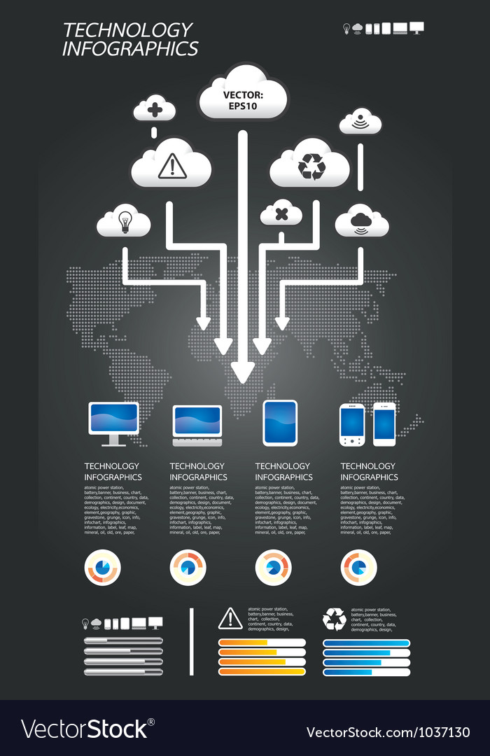 Infographic technology vector