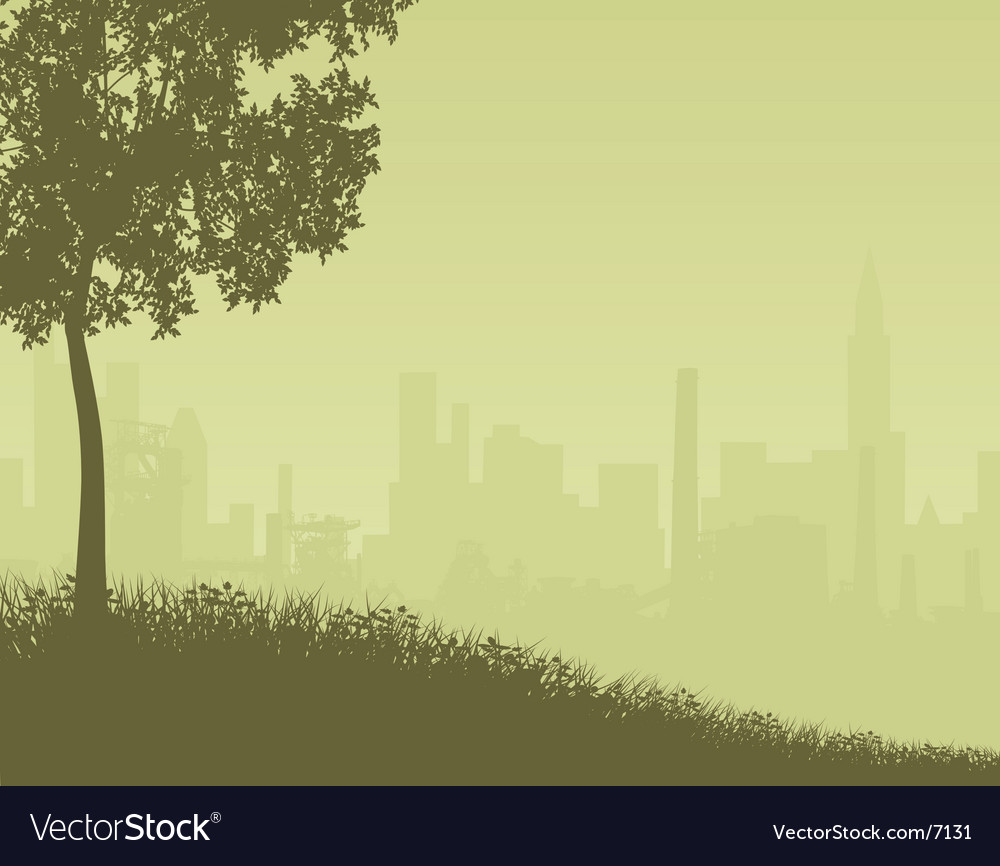 City edge vector