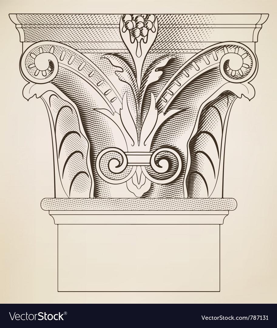 Engraving column vector