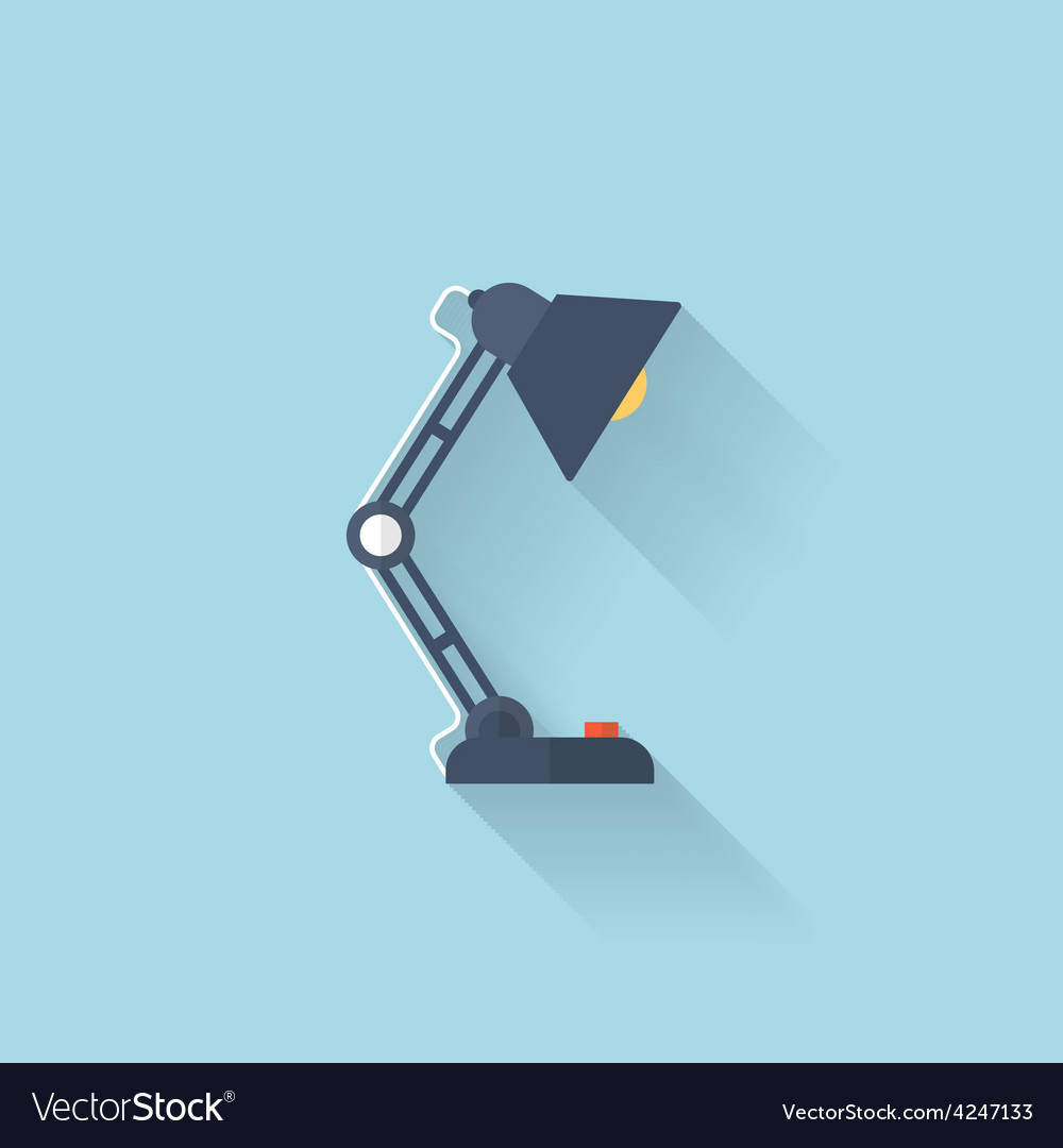 Flat web internet icon table light lamp vector