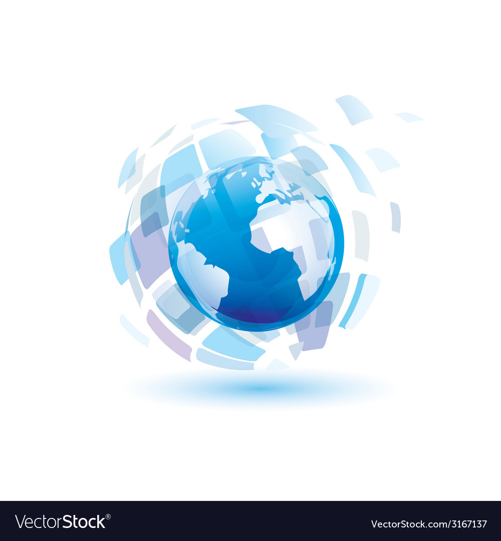 Globe digital vector