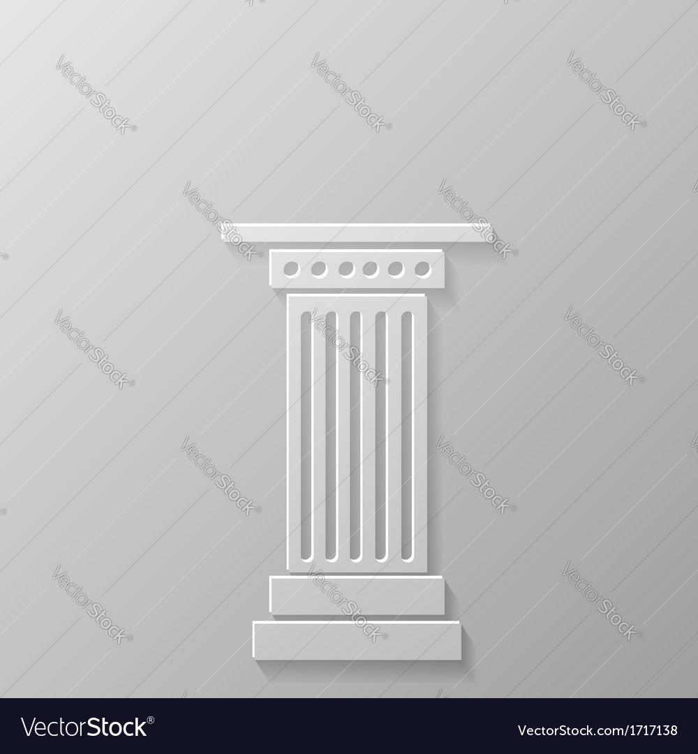 Column icoon vector