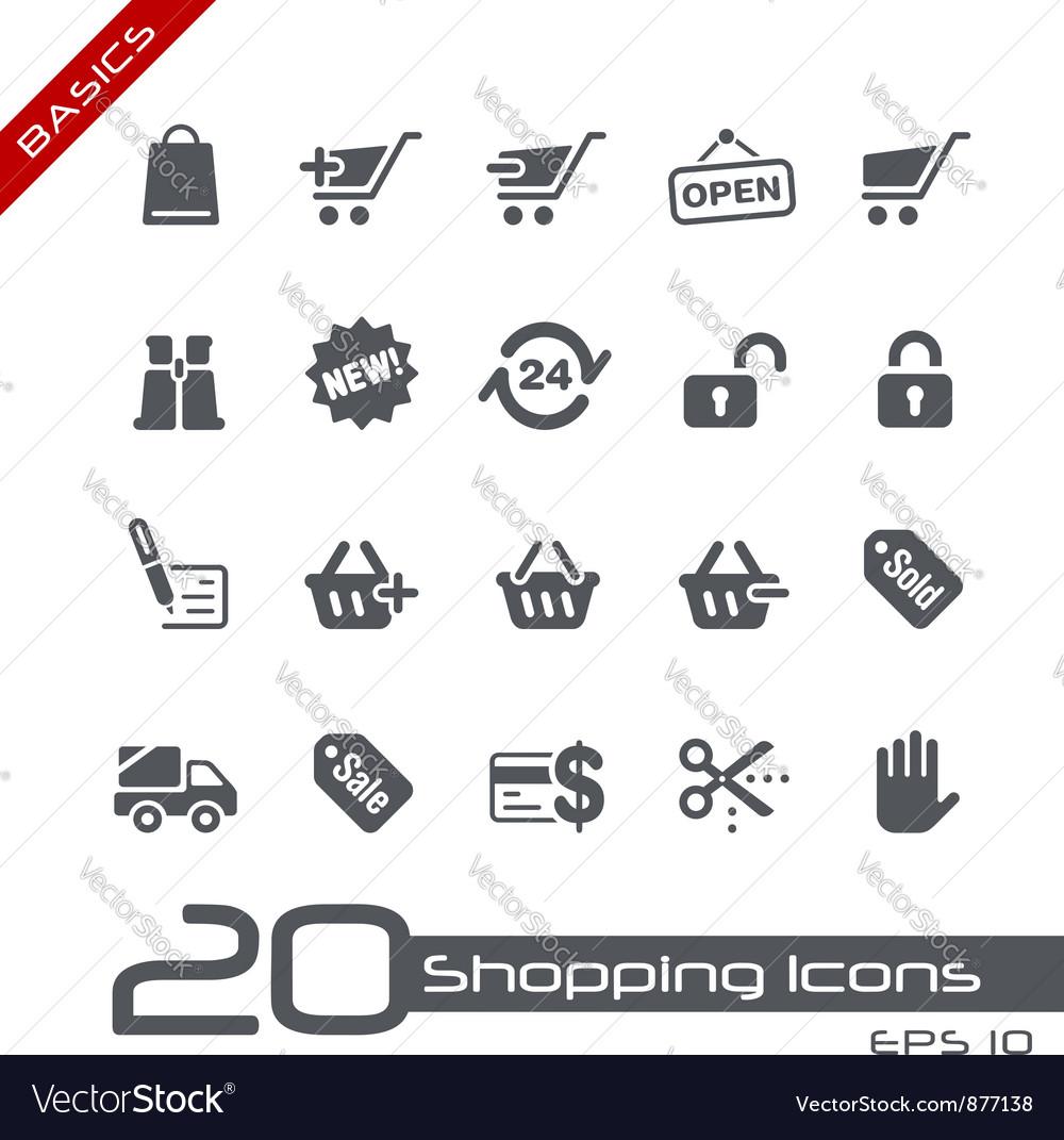 Shopping basics series vector