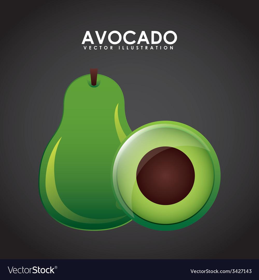 Avocado design vector