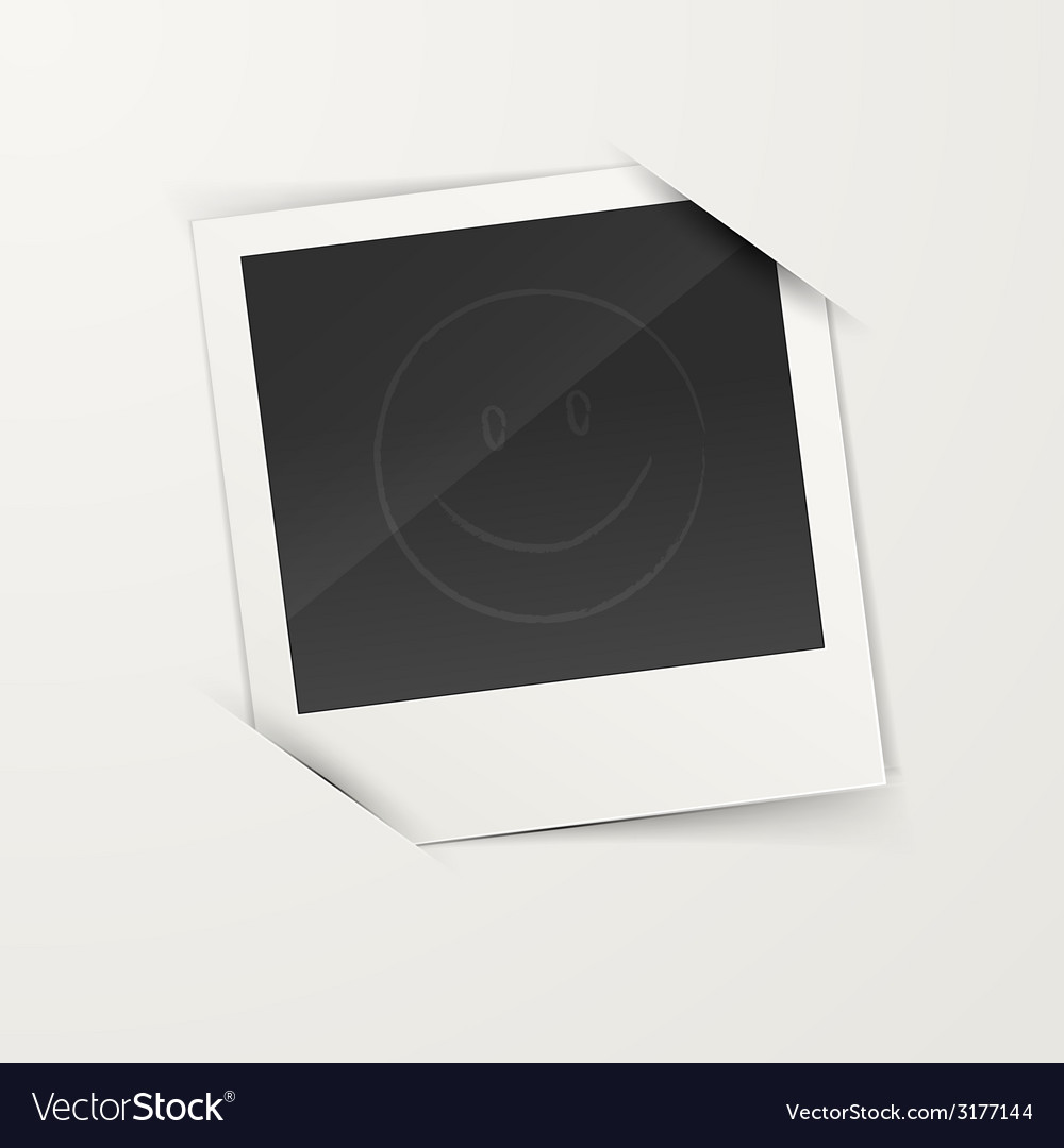 Empty photo frame vector
