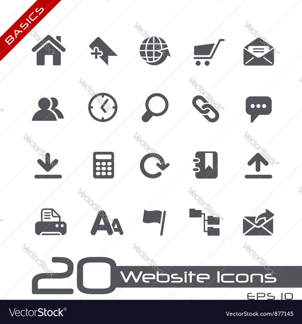 Website internet basics series vector