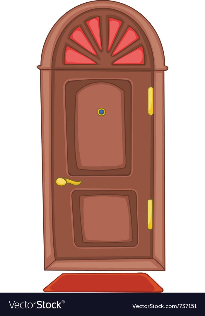 Cartoon home door vector