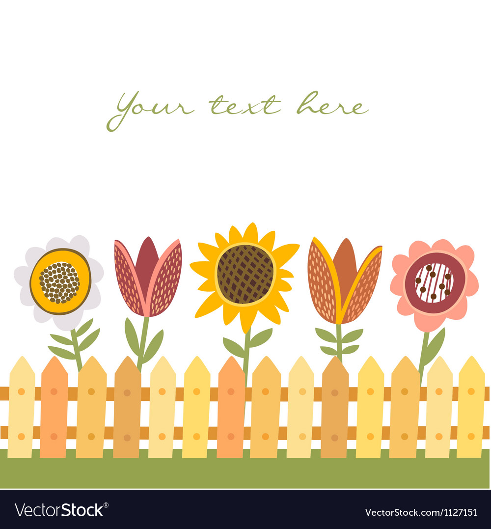 Country background with flowers vector
