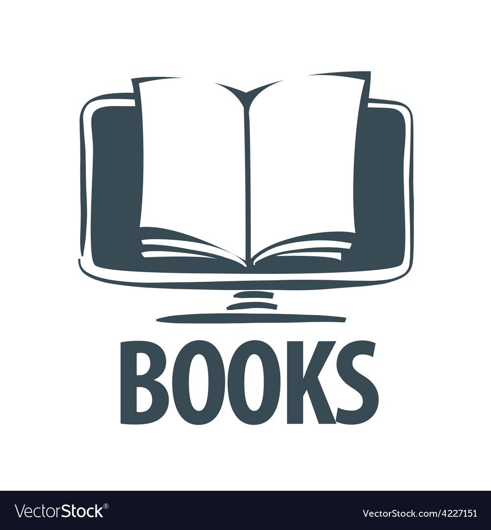 Logo e book on a computer screen vector