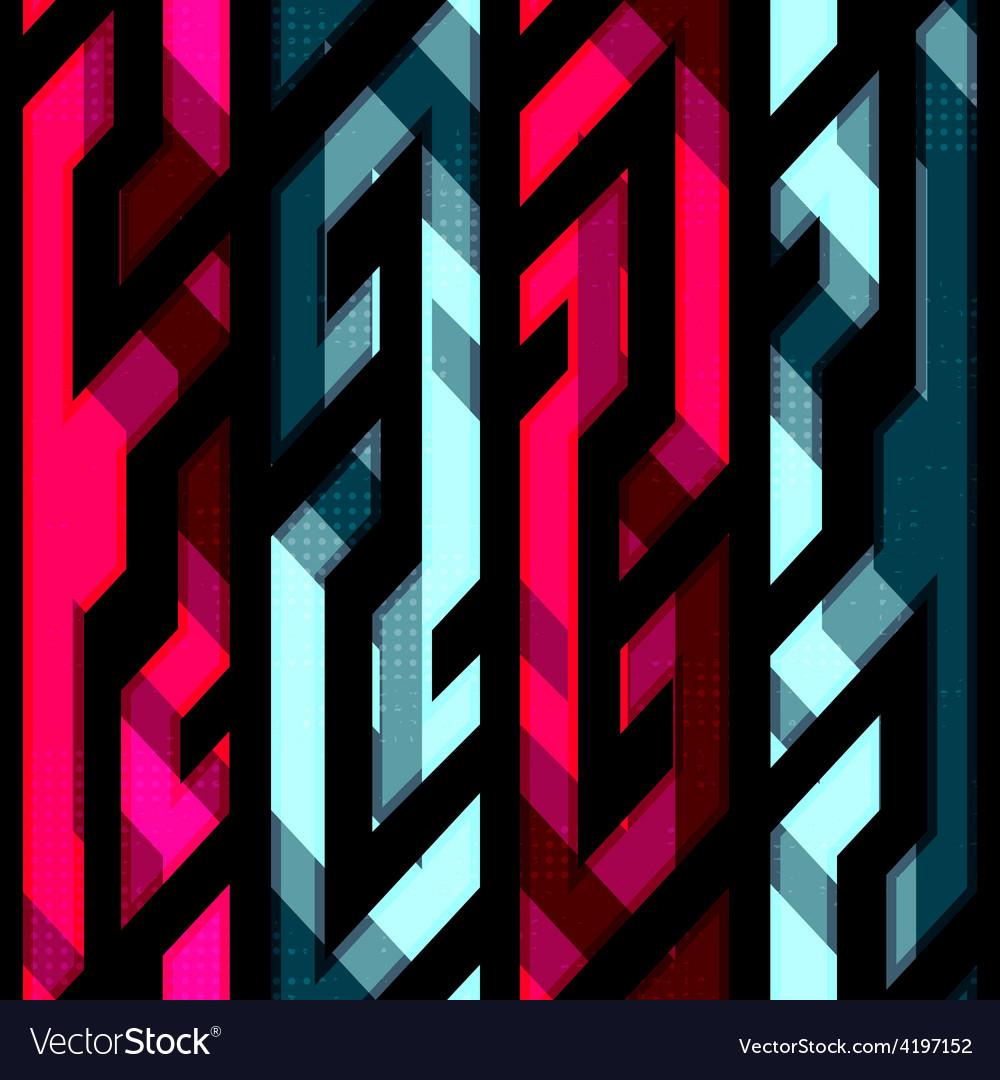 Vintage crystal geometric seamless pattern vector