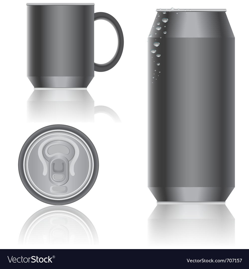 Aluminum packaging vector