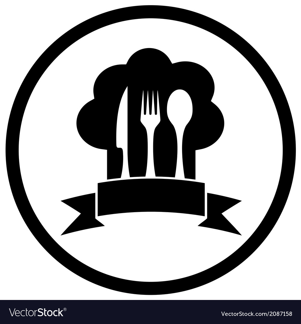 Chef hat with kitchen ware vector