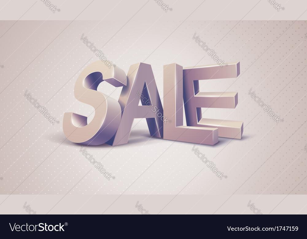 Sale 3d text message vector