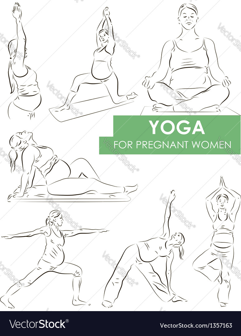 Yoga for pregnant vector