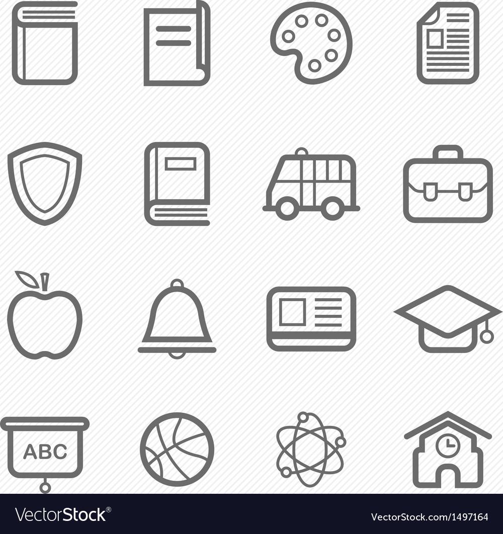 Education symbol line icon vector