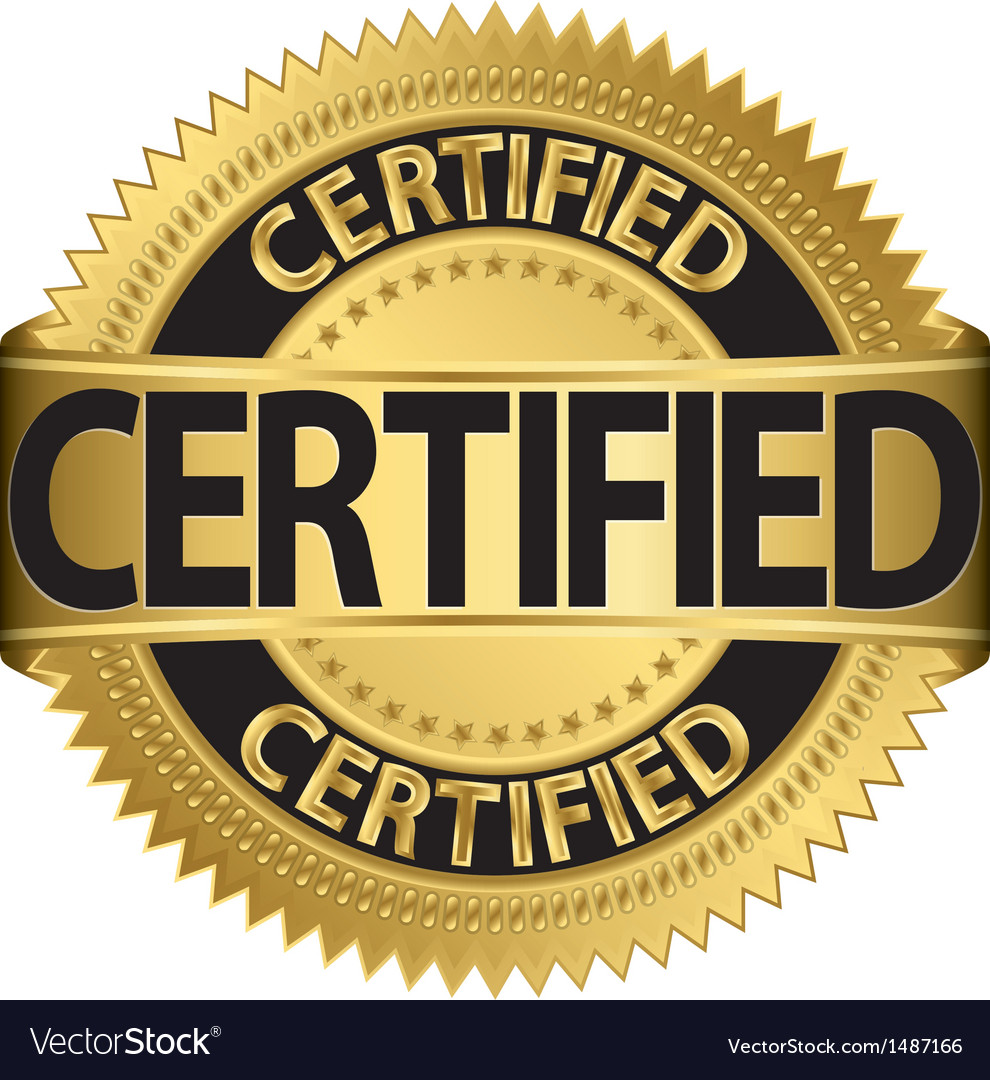 Certified gold label vector