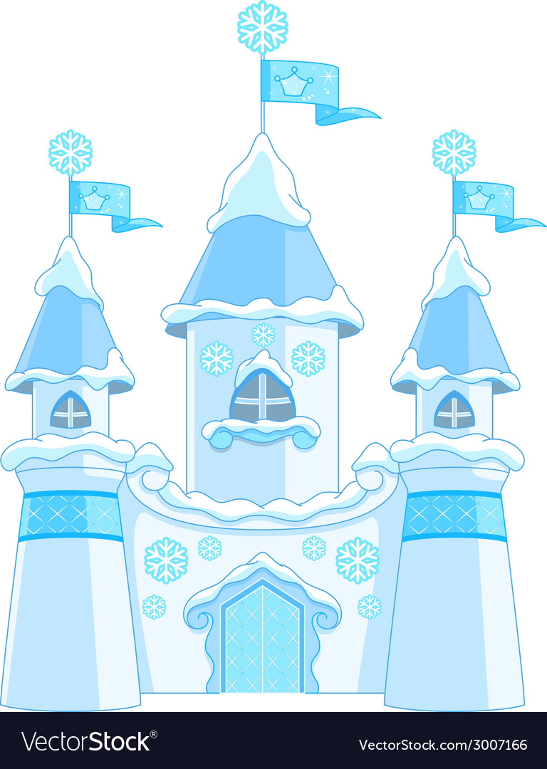 Winter castle vector