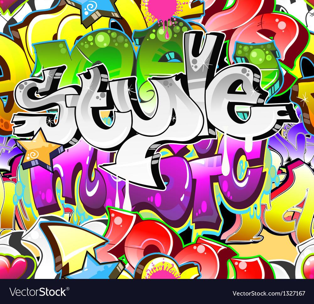 Graffiti urban art background vector