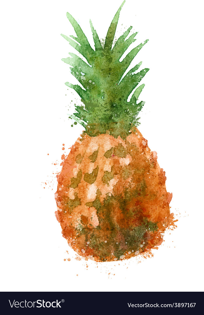 Pineapple logo design template food or vector