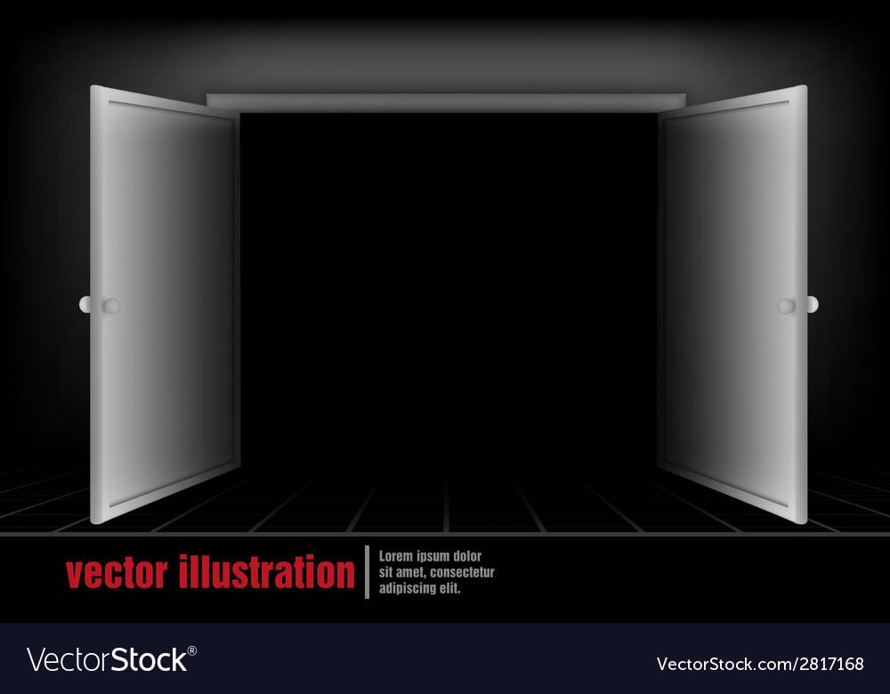 Open the door to the room vector