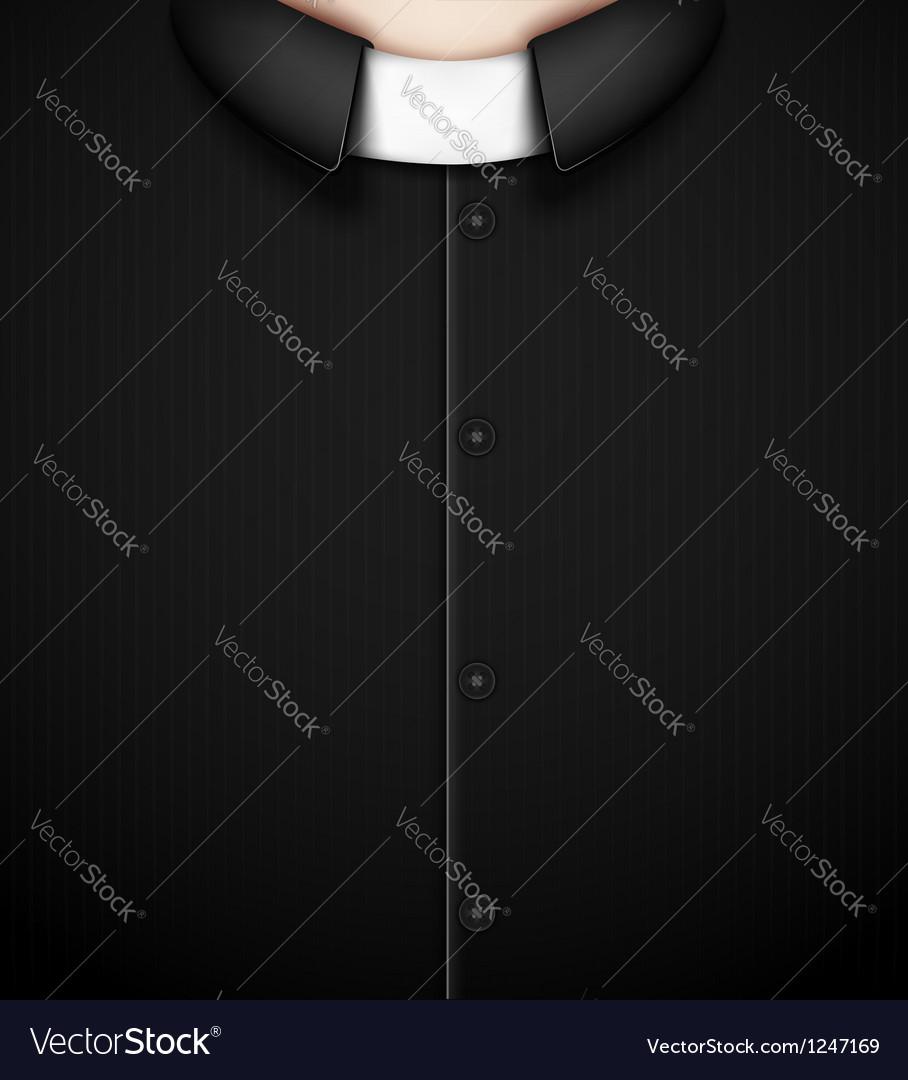 Costume priest vector