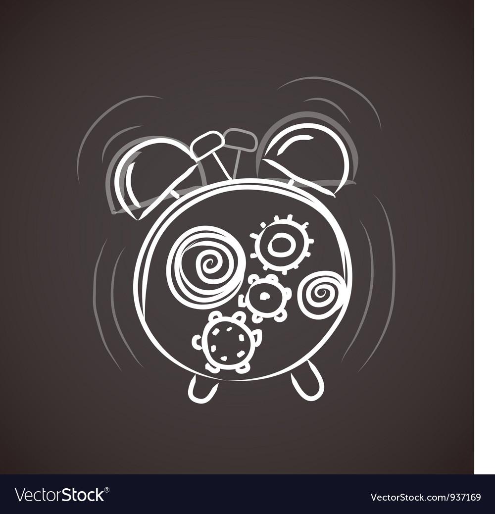 Sketchy alarm clock vector