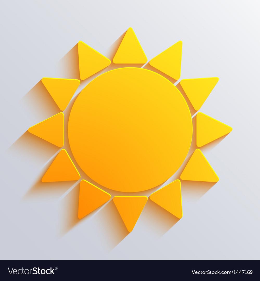 Sun background eps10 vector