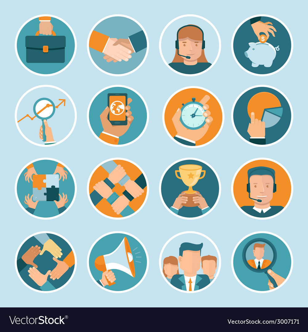 Business concepts in flat style vector