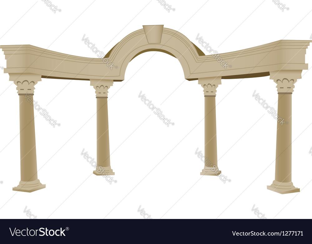 Greek arch column vector