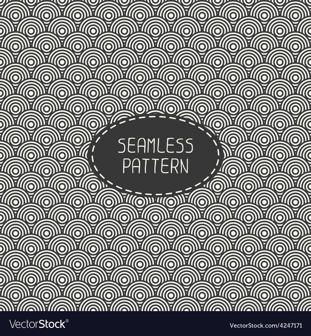 Seamless retro vintage marine geometric line vector