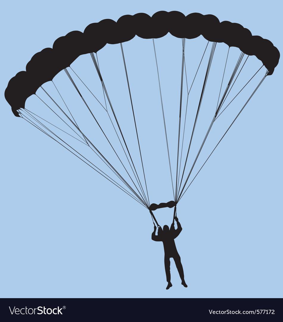 Ram air parachute vector