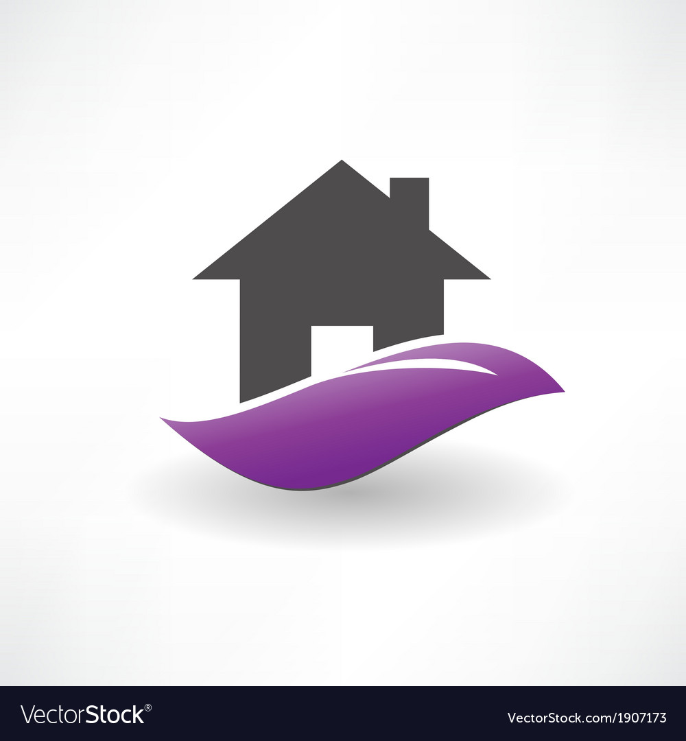 House on the hill icon vector