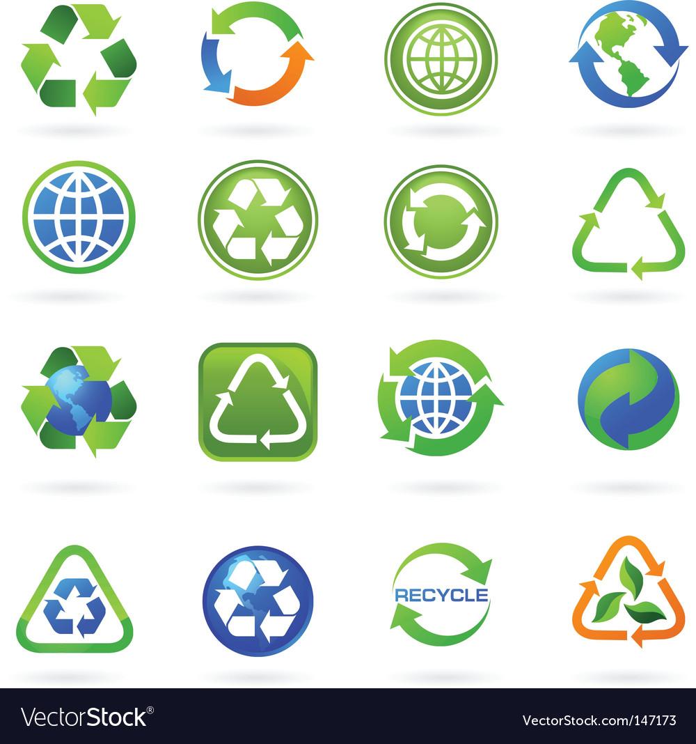 Recycle logos vector