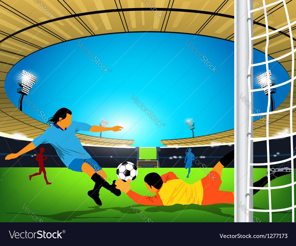 Stadium soccer game vector
