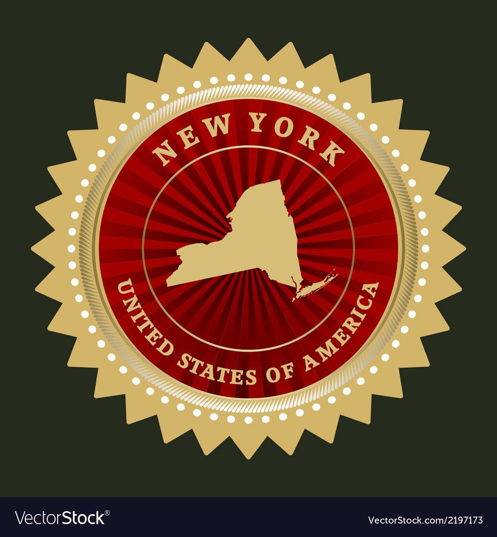 Star label new york vector