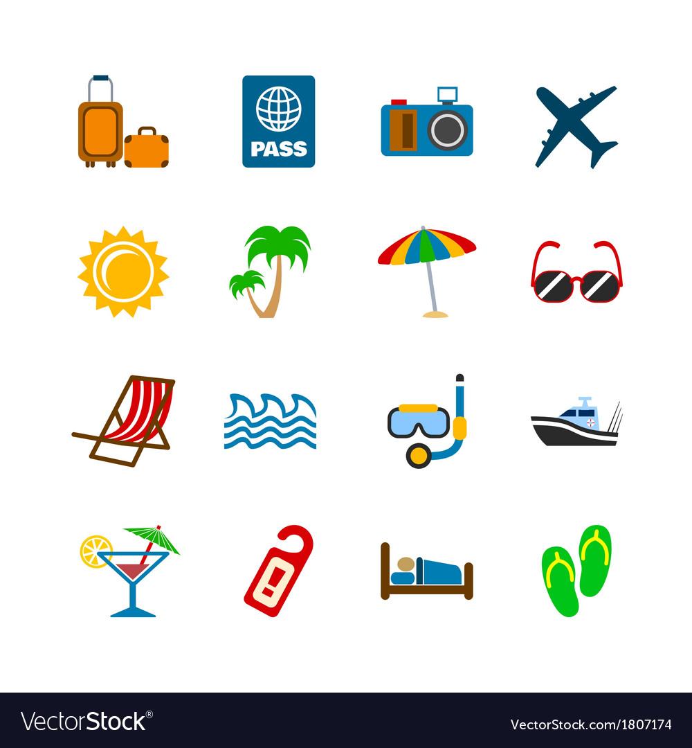 Holidays journey design elements vector