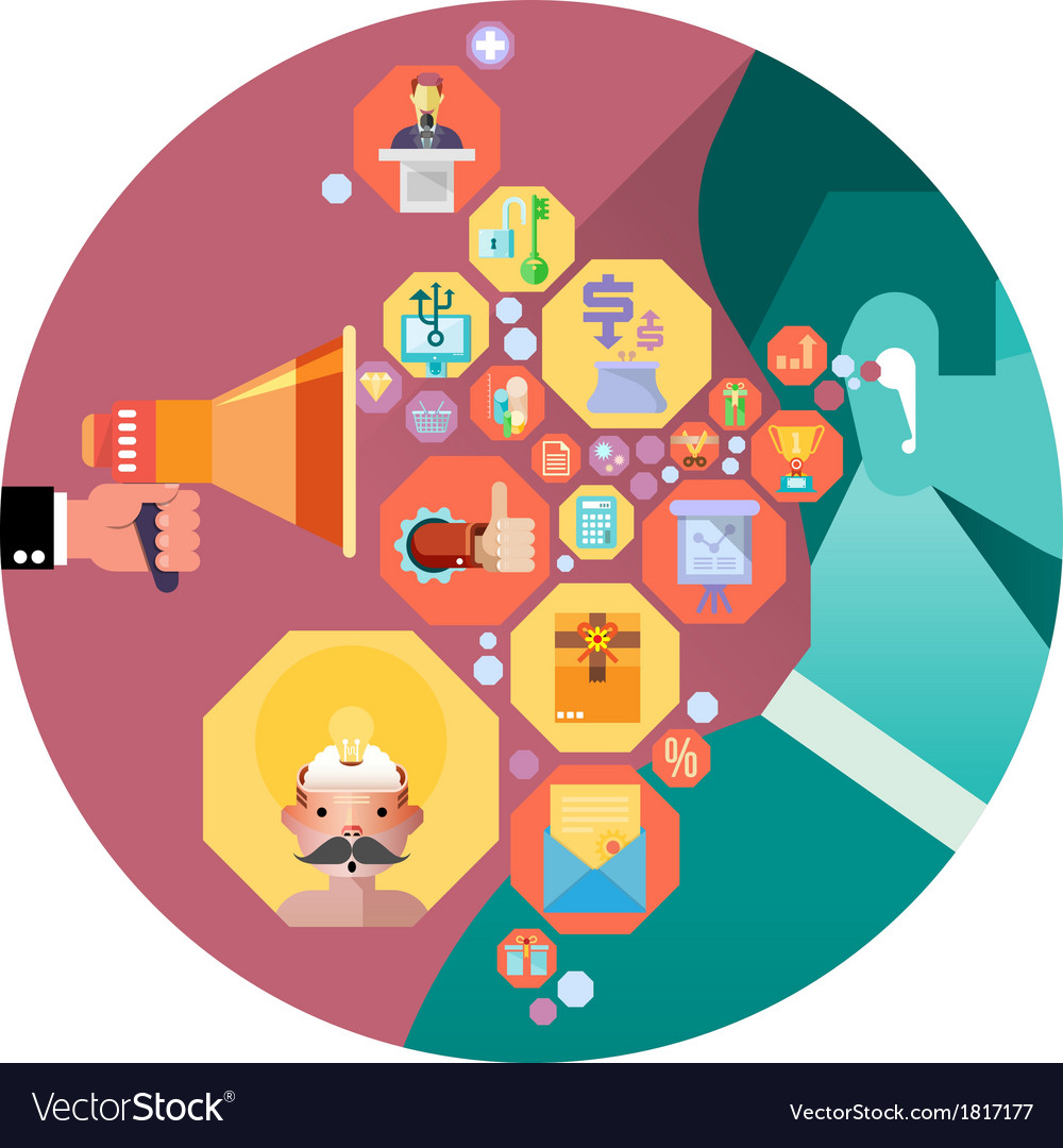 Business communication concept vector