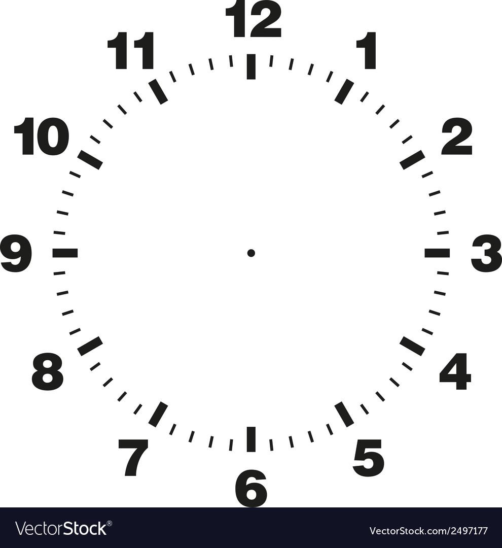 Template of clock dial vector