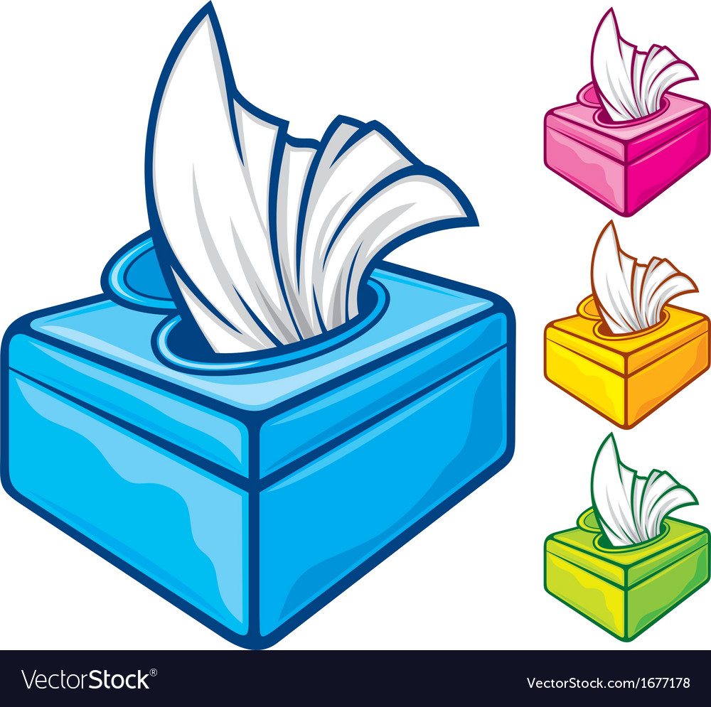 Tissue boxes vector
