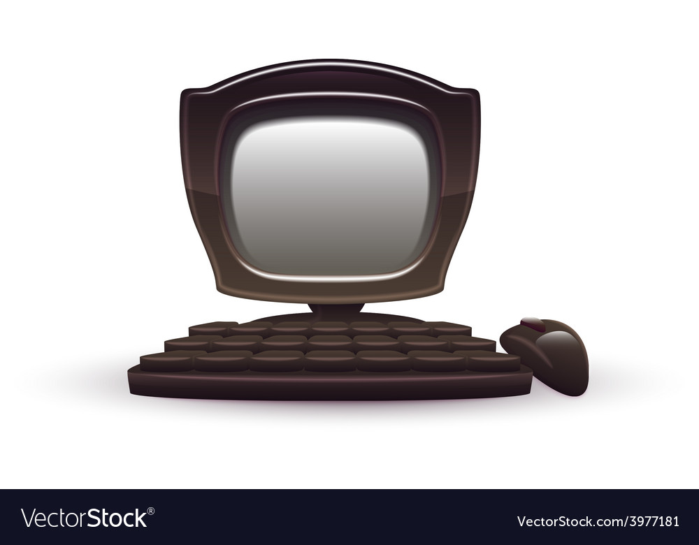 Black computer vector