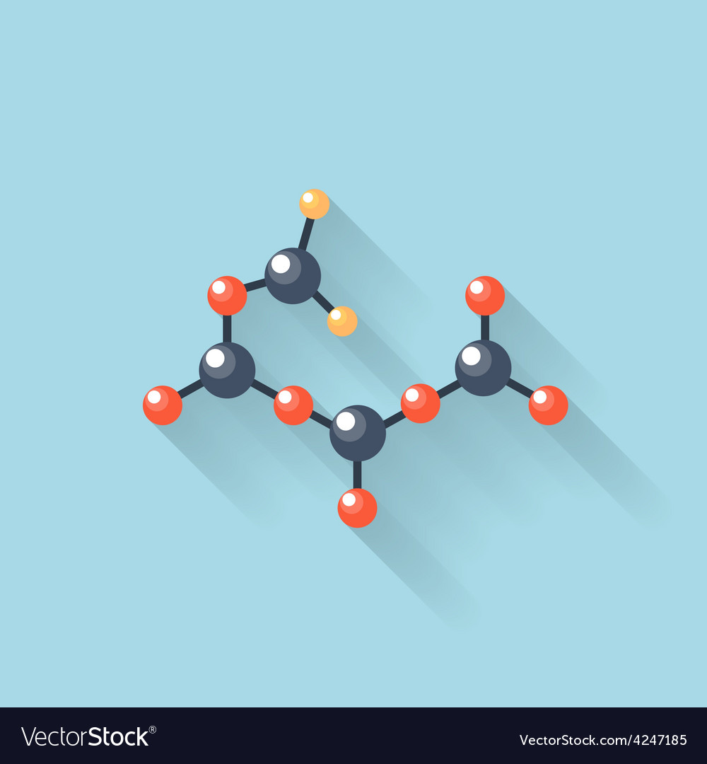 Flat web internet icon molecule chemical atomic vector