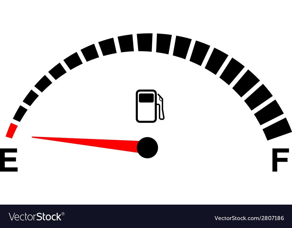 Fuel gage empty vector