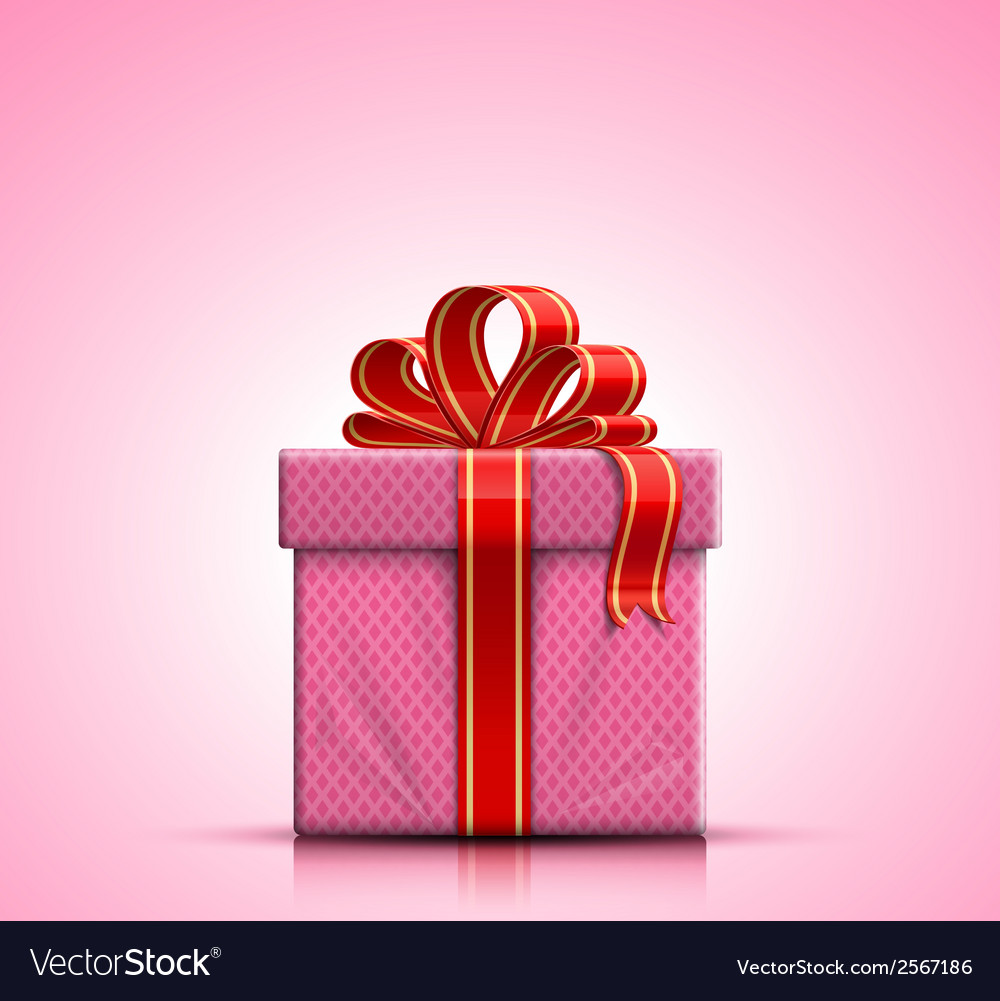 Pink-gift-box-with-ribbon-and-bow-vector