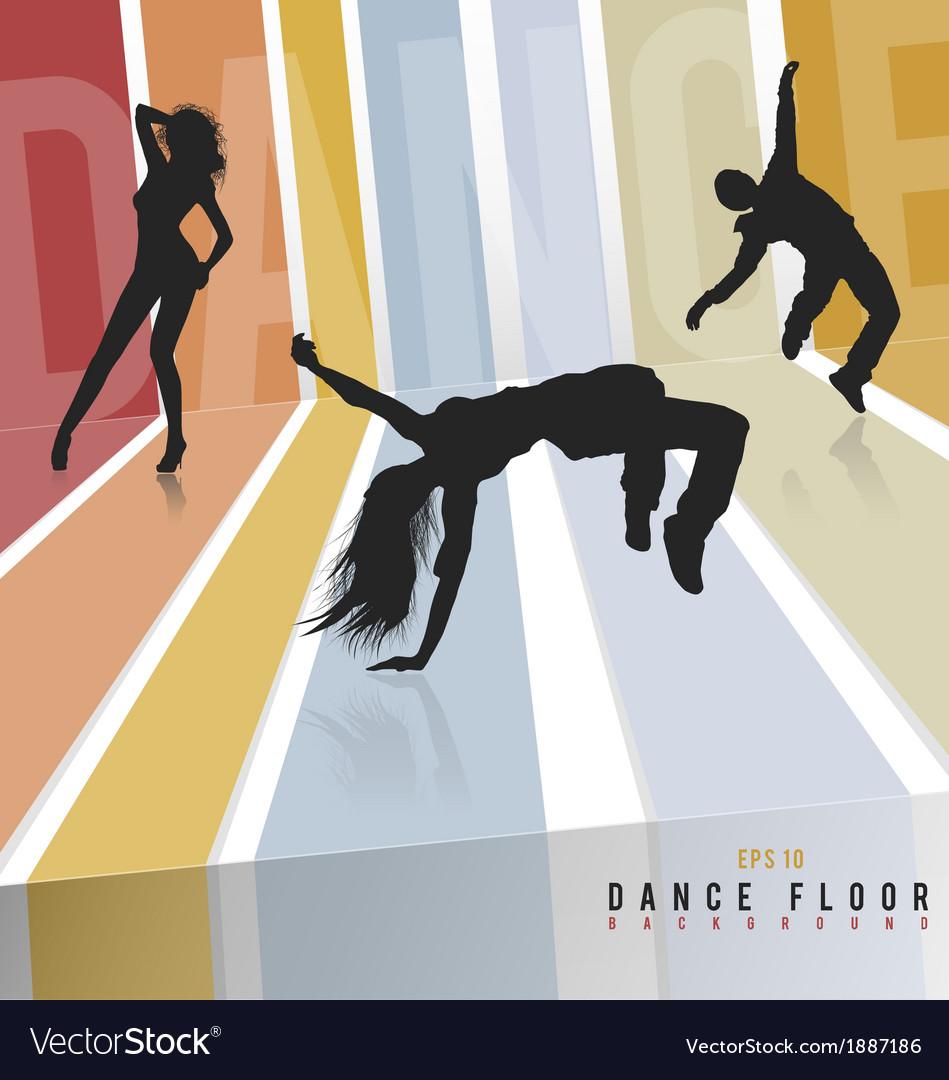 Retro dance floor vector