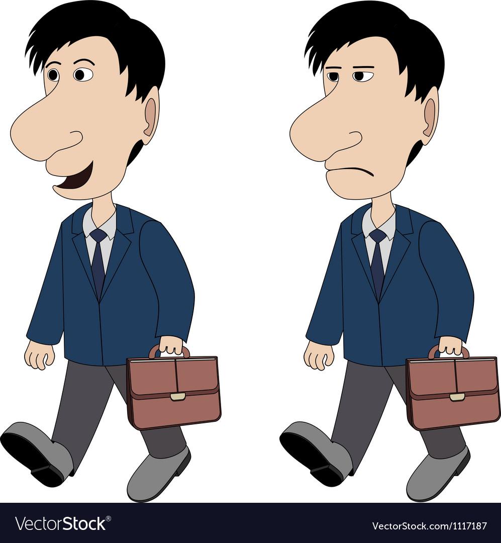 A man with a briefcase vector