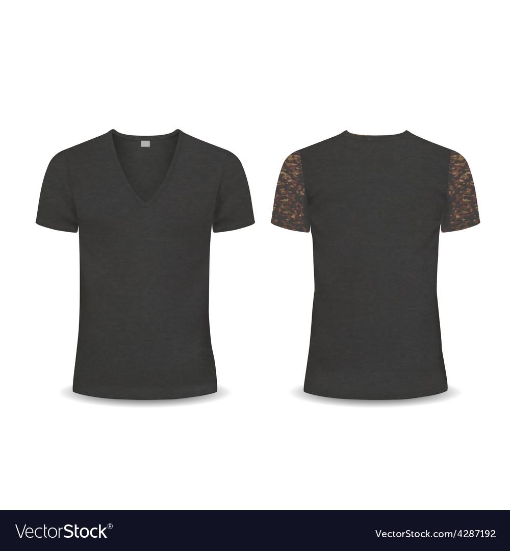 T-shirt design template women and men vector