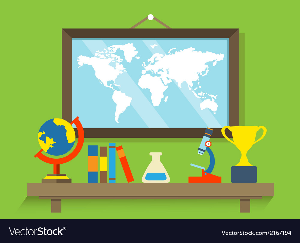 Education and cognitive equipment for science vector
