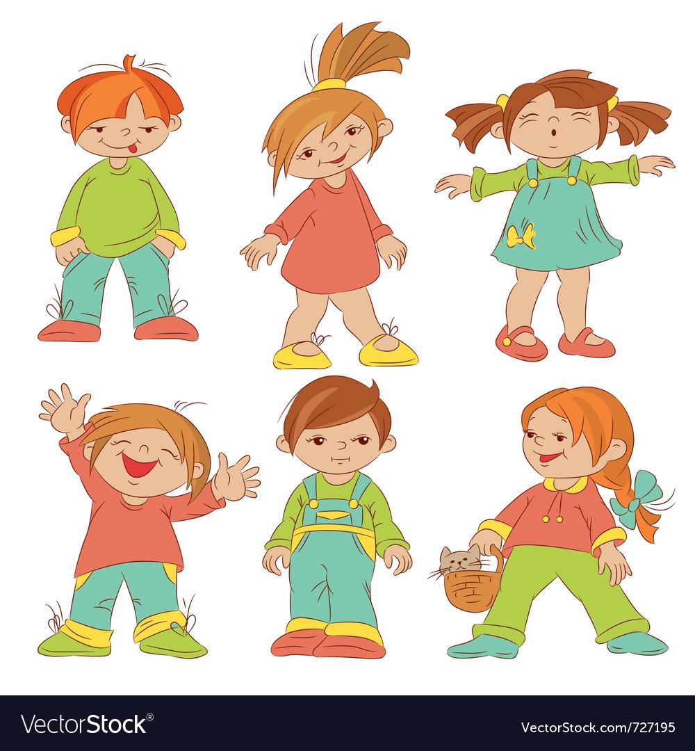 Children sketches vector