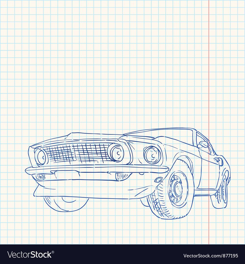 Muscle car vector
