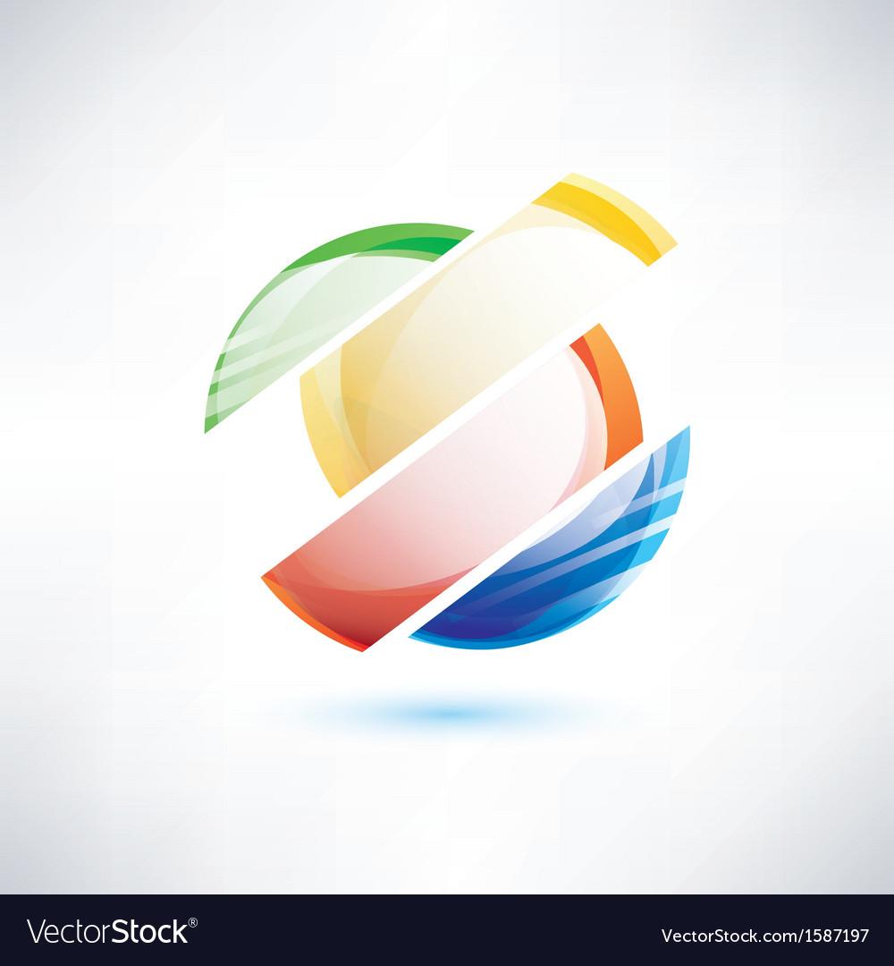 Abstract glossy circle segments vector
